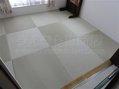 【フローリング(洋間)から琉球畳】やわらかい床で暮らしたい。(大阪寝屋川市)家庭用国産畳専門店うえむら畳4