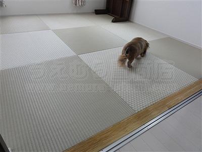 【フローリング(洋間)から琉球畳】やわらかい床で暮らしたい。(大阪寝屋川市)家庭用国産畳専門店うえむら畳8