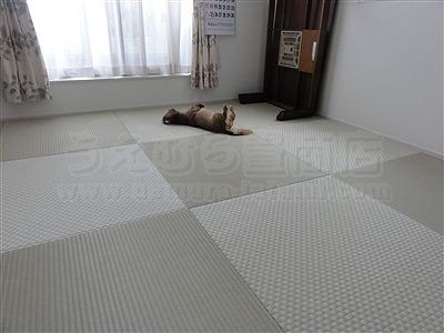 【フローリング(洋間)から琉球畳】やわらかい床で暮らしたい。(大阪寝屋川市)家庭用国産畳専門店うえむら畳9