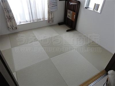 【フローリング(洋間)から琉球畳】やわらかい床で暮らしたい。(大阪寝屋川市)家庭用国産畳専門店うえむら畳10