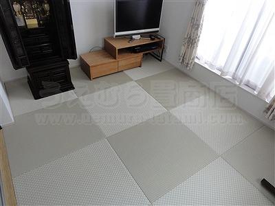【フローリング(洋間)から琉球畳】やわらかい床で暮らしたい。(大阪寝屋川市)家庭用国産畳専門店うえむら畳11