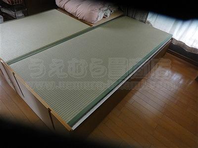和紙製畳より天然い草畳ベッドでココチヨク眠りたい。(大阪大東市)家庭用国産畳専門店うえむら畳1