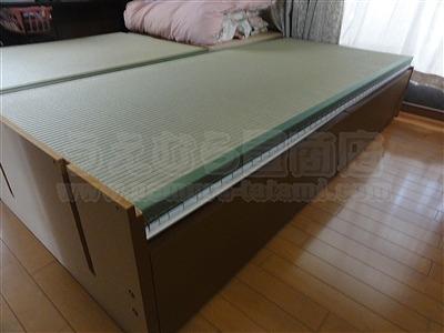 和紙製畳より天然い草畳ベッドでココチヨク眠りたい。(大阪大東市)家庭用国産畳専門店うえむら畳3