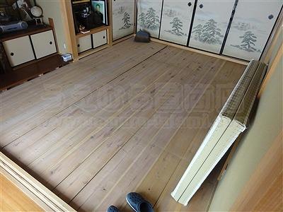 【ペット用縁無し琉球畳】続きのお部屋も害虫が発生しにくいペット対応畳に変更。大阪いまどきの畳屋さんうえむら畳1