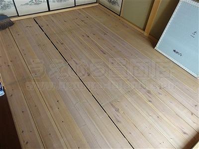 【ペット用縁無し琉球畳】続きのお部屋も害虫が発生しにくいペット対応畳に変更。大阪いまどきの畳屋さんうえむら畳2