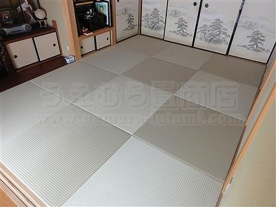 【ペット用縁無し琉球畳】続きのお部屋も害虫が発生しにくいペット対応畳に変更。大阪いまどきの畳屋さんうえむら畳7