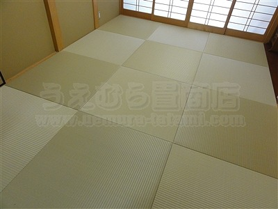 【ペット用縁無し琉球畳】続きのお部屋も害虫が発生しにくいペット対応畳に変更。大阪いまどきの畳屋さんうえむら畳10