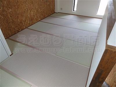 ピーチ×メロン色フロアに模様替えで作業効率アップ作戦。大阪府大東市唯一の家庭用国産畳専門店の畳屋さんうえむら畳1