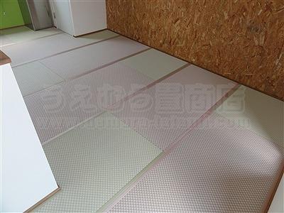 ピーチ×メロン色フロアに模様替えで作業効率アップ作戦。大阪府大東市唯一の家庭用国産畳専門店の畳屋さんうえむら畳2