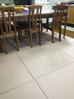 〜冷たいリビングの床をセキスイフロア畳(置き畳)でおしゃれに模様替え〜大阪大東市のイマドキの畳屋さんうえむら畳1