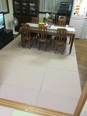 〜冷たいリビングの床をセキスイフロア畳(置き畳)でおしゃれに模様替え〜大阪大東市のイマドキの畳屋さんうえむら畳2