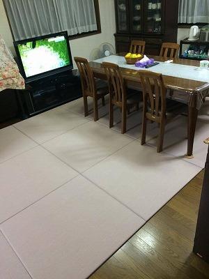〜冷たいリビングの床をセキスイフロア畳(置き畳)でおしゃれに模様替え〜大阪大東市のイマドキの畳屋さんうえむら畳4