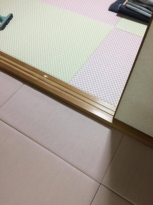 〜冷たいリビングの床をセキスイフロア畳(置き畳)でおしゃれに模様替え〜大阪大東市のイマドキの畳屋さんうえむら畳5