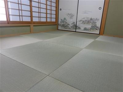 【縁無し琉球畳施工事例大阪府大東市】やっぱりい草がいちばん気持ちがイイ。家庭用国産畳専門店うえむら畳4