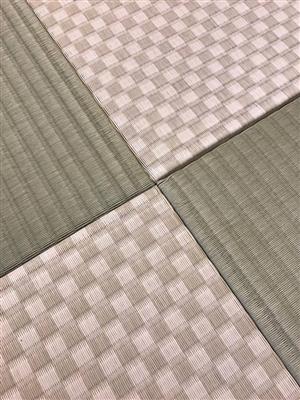 グリーンが良いんです。カラー縁無し琉球畳(セキスイ美草)大阪大東市6帖間施工例家庭用国産畳専門店うえむら畳5