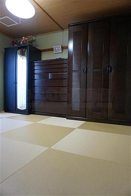 【カラー縁無し琉球畳】お友達のようなステキなお部屋に模様替えしたいッ!:大阪大東市家庭用国産畳専門店うえむら畳2