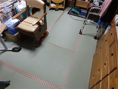【介護シニア畳】臭いや汚れが気になるご両親のお部屋のお部屋を簡単改善。大阪大東市家庭用国産畳専門店うえむら畳3