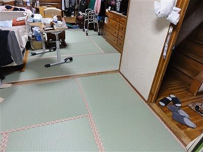 【介護シニア畳】臭いや汚れが気になるご両親のお部屋のお部屋を簡単改善。大阪大東市家庭用国産畳専門店うえむら畳6
