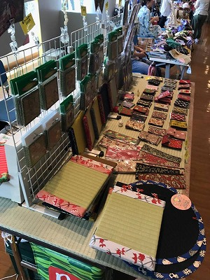 小金屋食品納豆大直売会×てくてくマルシェ(川村義肢本社ショールーム)大阪の畳屋さんうえむら畳が応援参加。18