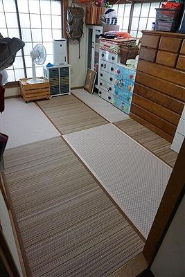 畳デザイン敷き(門真市)ハイハイできる畳へ模様替え:大阪大東市のイマドキの畳屋さんうえむら畳5
