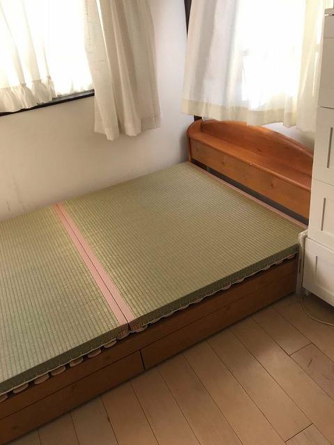 〜ベッドでの目覚めの腰痛を畳でカイゼン〜大阪のイマドキの畳屋さんうえむら畳3