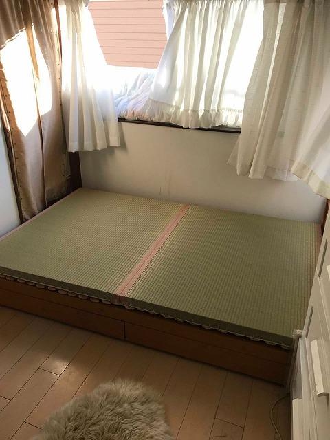 〜ベッドでの目覚めの腰痛を畳でカイゼン〜大阪のイマドキの畳屋さんうえむら畳5