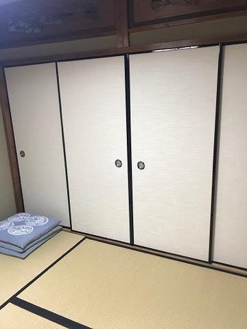 ふすま(襖)の張替え新調もお任せ。(大阪府大東市)家庭用国産畳専門店うえむら畳1