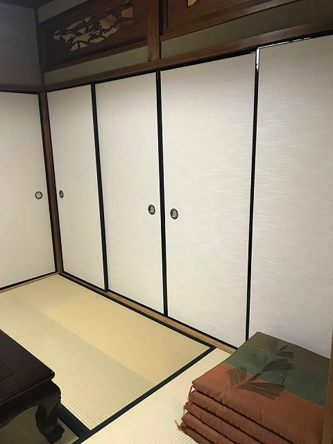 ふすま(襖)の張替え新調もお任せ。(大阪府大東市)家庭用国産畳専門店うえむら畳4