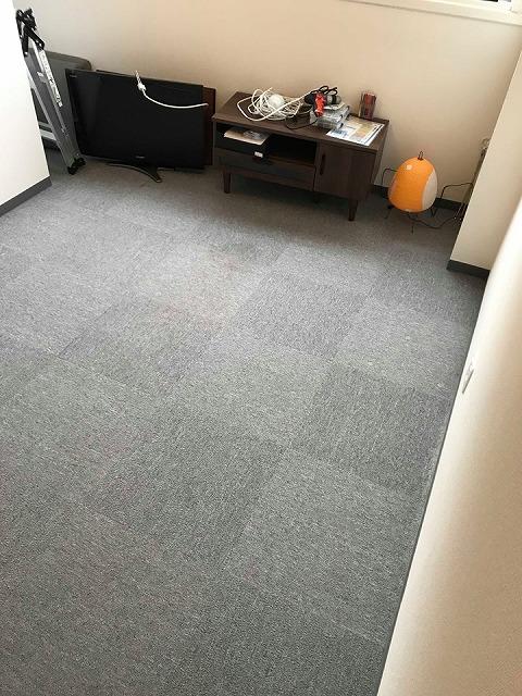 極薄縁無し琉球畳:タイルカーペットからニッポンの床に模様替え:大阪のイマドキの畳屋さんうえむら畳1