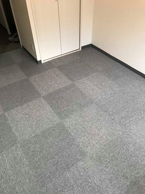 極薄縁無し琉球畳:タイルカーペットからニッポンの床に模様替え:大阪のイマドキの畳屋さんうえむら畳2