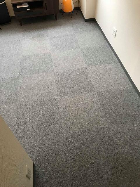 極薄縁無し琉球畳:タイルカーペットからニッポンの床に模様替え:大阪のイマドキの畳屋さんうえむら畳3