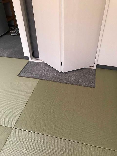 極薄縁無し琉球畳:タイルカーペットからニッポンの床に模様替え:大阪のイマドキの畳屋さんうえむら畳8