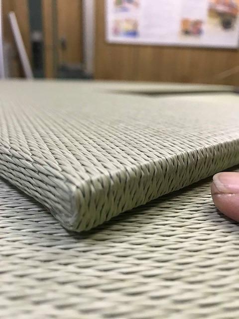 極薄縁無し琉球畳:タイルカーペットからニッポンの床に模様替え:大阪のイマドキの畳屋さんうえむら畳9