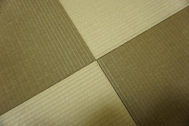 【カラー和紙製縁無し琉球畳】念願の縁無し琉球畳に模様替え。大阪大東市家庭用国産畳専門店うえむら畳2