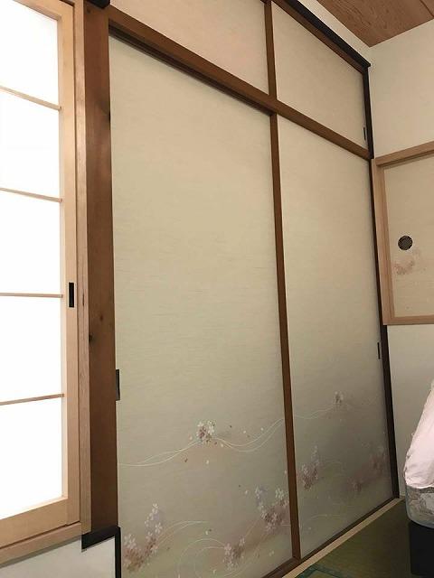 """イマドキ模様替え洋間から和室へ。""""きなり畳シリーズ極太(GOKUBUTO)大阪大東市家庭用国産畳専門店うえむら畳04"""