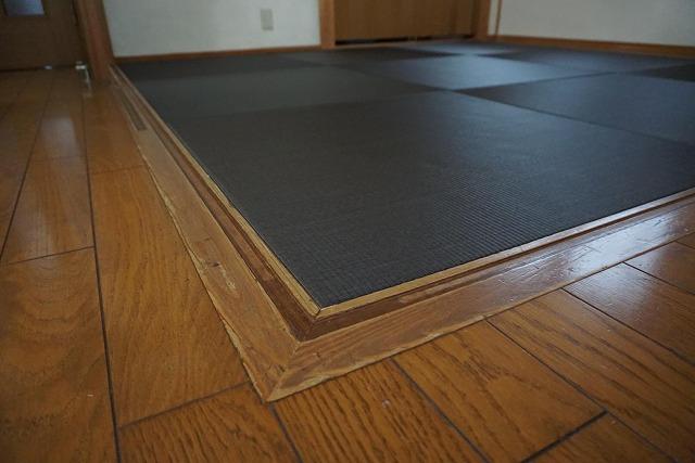 【カラー琉球畳】チャコール色がステキなお部屋に模様替え。大阪大東市家庭用国産畳専門店うえむら畳2