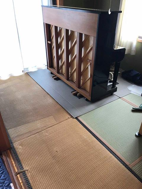 えっ!うそっ!簡単!畳替えのピアノ移動も安心楽々お任せください!大阪府大東市家庭用国産畳専門店イマドキの畳屋さんうえむら畳2
