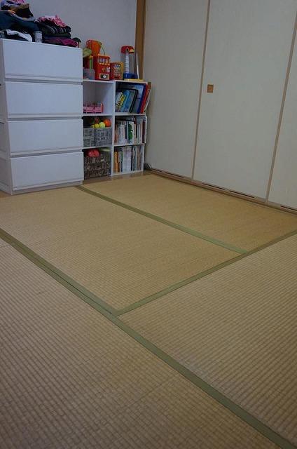 極薄縁無し琉球畳(ブラック×市松柄ブラック)大阪府大東市家庭用国産畳専門店いまどきの畳屋さんうえむら畳1