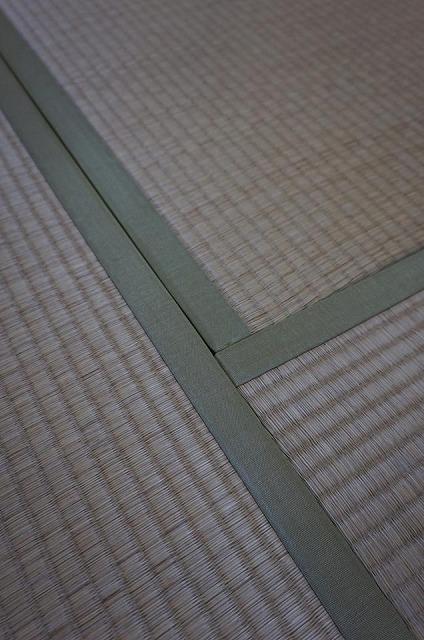 極薄縁無し琉球畳(ブラック×市松柄ブラック)大阪府大東市家庭用国産畳専門店いまどきの畳屋さんうえむら畳2