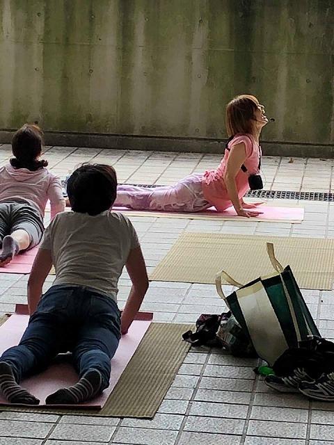 """畳屋さんが""""あおぞらヨガ""""を応援。大阪府大東市家庭用国産畳専門店イマドキの畳屋さんうえむら畳10"""