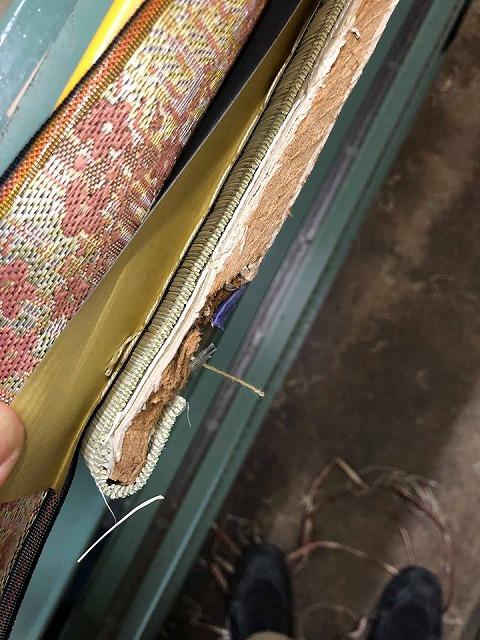極薄畳の表替え(おもてがえ)土台はシッカリしてんねんッ(大阪府大東市)大阪府大東市家庭用国産畳専門店イマドキの畳屋さんうえむら畳1