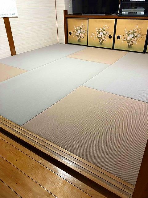 【シニアシルバー畳】ベッドの床はフローリングより畳が安心安全ッ!大阪府大東市家庭用国産畳専門店うえむら畳4