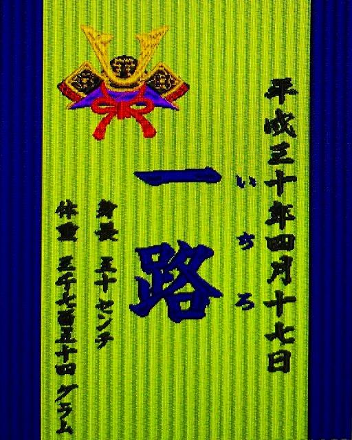 【喜び畳】念願のお子さまの誕生のお祝いと父への還暦祝いを刻む。(喜び畳シリーズ:畳タイプMサイズ)4