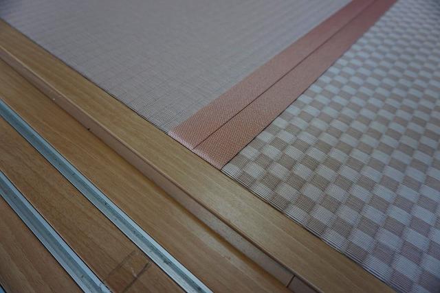 カラー縁無し琉球畳では無いカワイイお部屋に模様替え。(小上がり3帖間ピンク色市松柄施工事例)4