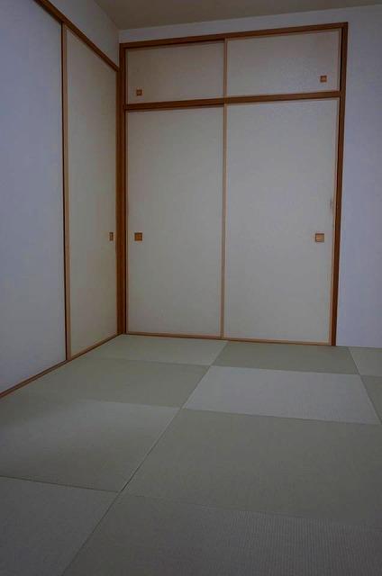 〜モダン縁無し琉球畳毛羽立った畳からモダンリーフグリーン6帖間施工事例〜3