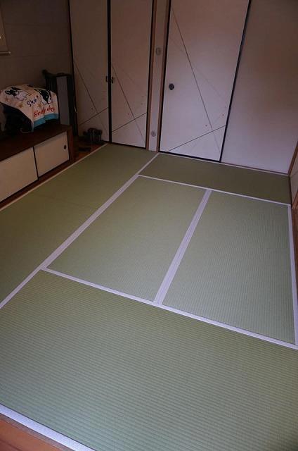 【ペット用和紙畳?】わんちゃんのオシッコでシミになった和紙畳から和紙畳へ?大阪府大東市イマドキの畳屋さん5