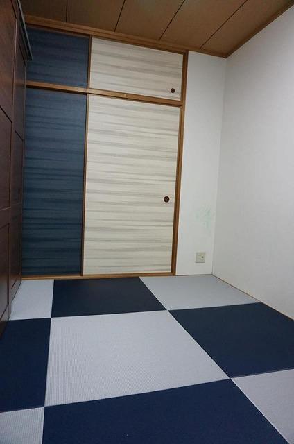 〜カラー琉球畳とカラー襖のコーディネイトでステキに模様替え〜大阪府大東市イマドキの畳屋さんうえむら畳2