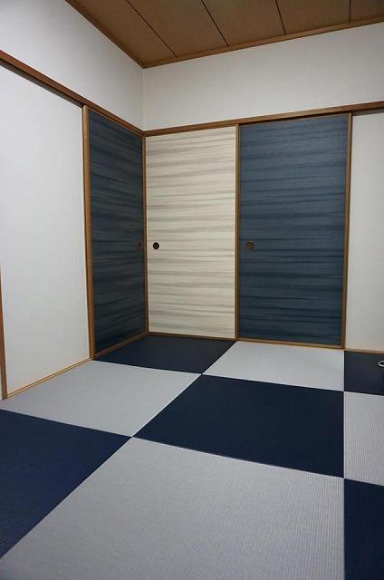 〜カラー琉球畳とカラー襖のコーディネイトでステキに模様替え〜大阪府大東市イマドキの畳屋さんうえむら畳3