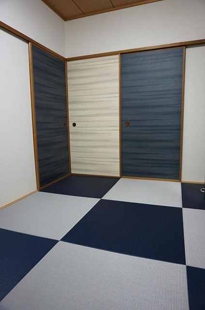 〜カラー琉球畳とカラー襖のコーディネイトでステキに模様替え〜大阪府大東市イマドキの畳屋さんうえむら畳7