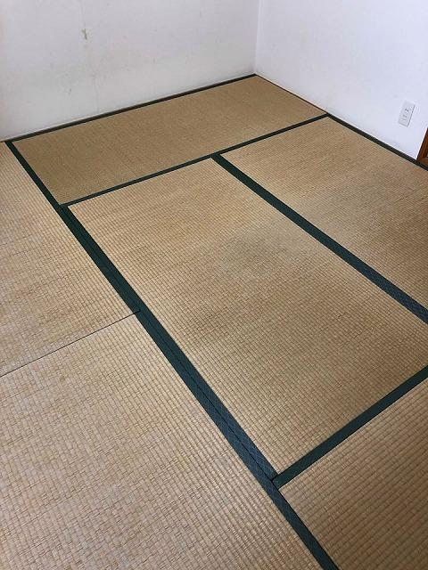 〜和紙カラー畳×同系色縁×デザイン敷きで極薄畳のお部屋を模様替え〜大阪大東市イマドキの畳屋さんうえむら畳1